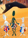 Cartoon: Beautiful girls looking for oil (small) by Zoran Spasojevic tagged beautiful,girls,looking,for,oil,zoran,spasojevic,paske,emailart,america,england,france,kragujevac,digital,graphics,serbia