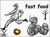 Cartoon: Fast food (small) by Zoran Spasojevic tagged emailart,digital,collage,graphics,worm,fastfood,fast,food,spasojevic,zoran,paske,kragujevac,serbia