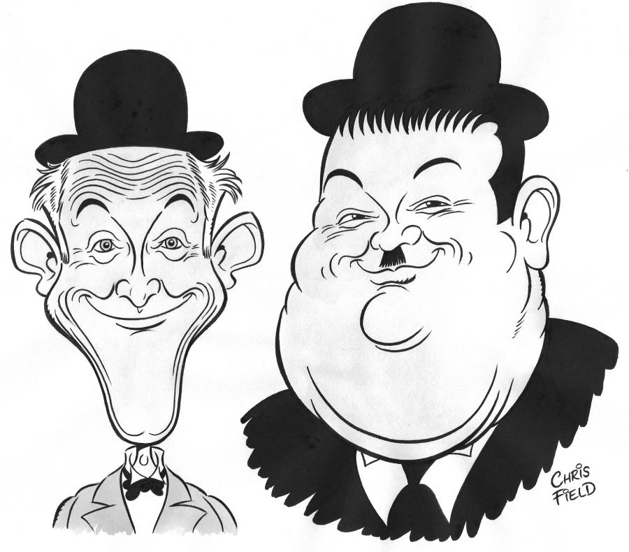 Cartoon: Laurel and Hardy caricature (large) by fieldtoonz tagged laurel,and,hardy