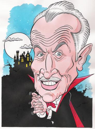 Cartoon: Vincent Price (medium) by fieldtoonz tagged caricature