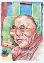 Cartoon: Dalai Lama (small) by Joen Yunus tagged carricature,colored,pencil,dalai,lama,universal,yin,yang,chi