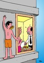 Cartoon: do not eat my pizza (small) by Joen Yunus tagged cartoon pizzapitch sex marriage misunderstandings