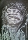 Cartoon: James Brown (small) by Joen Yunus tagged james,caricature,charcoal,soul,music