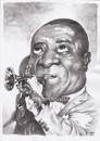 Cartoon: Louis Armstrong (small) by Joen Yunus tagged carricature,colored,pencil,music,jazz,louis,armstrong,trumpet