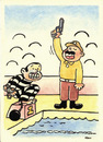 Cartoon: Stupidity (small) by Joen Yunus tagged cartoon,stupid,police,criminal