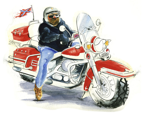 Cartoon: Harley Davidson Biker (medium) by drawgood tagged biker,motorbike,harley