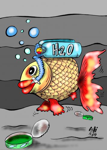 Cartoon: eco 2 (medium) by SAI tagged fish