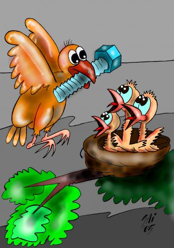 Cartoon: eco 3 (medium) by SAI tagged bird