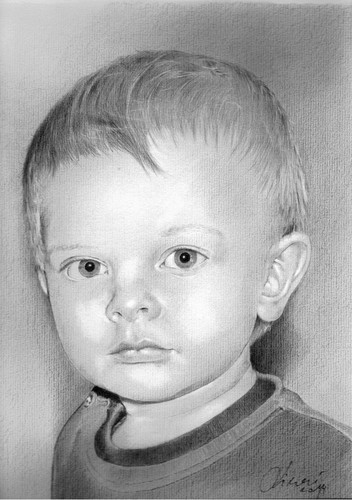 Cartoon: little boy (medium) by Slawek11 tagged portrait