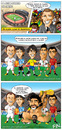 Cartoon: El mejor jugador del mundo (small) by Neokoi tagged messi,xavi,rooney,kaka,ronaldo,maradona,comic