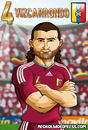 Cartoon: Oswaldo Vizcarrondo (small) by Neokoi tagged oswaldo,vizcarrondo,venezuela,football,player,la,vinotinto,soccer,club,america,mexico,conmebol,fvf,futbol
