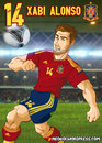 Cartoon: Xabi Alonso (small) by Neokoi tagged xabi,alonso,spain,real,madrid