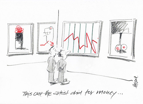 Cartoon: Artistic Statistic (medium) by helmutk tagged business