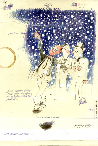 Cartoon: Christmas Card 95 (medium) by helmutk tagged social,life