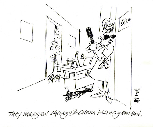 Cartoon: Clean Change (medium) by helmutk tagged business