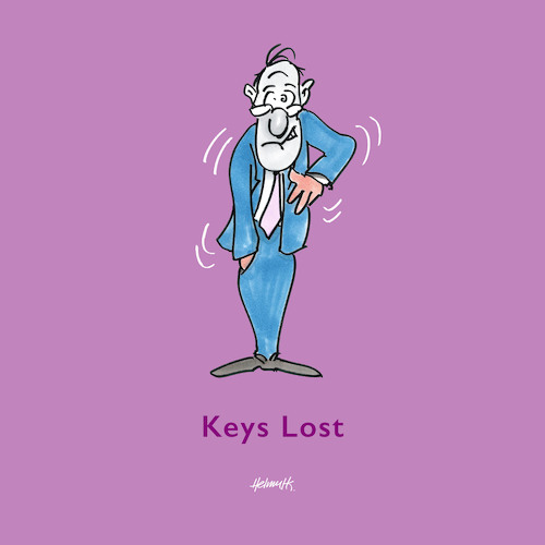Cartoon: Keys Lost (medium) by helmutk tagged psychology