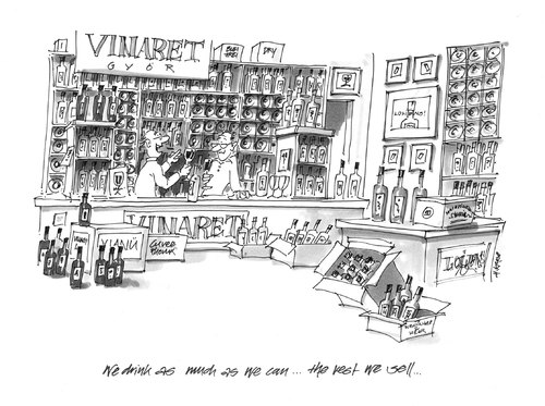 Cartoon: The Rest We Sell (medium) by helmutk tagged business