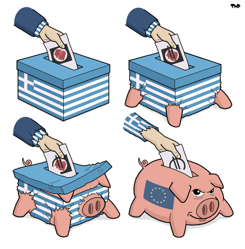 Modern Greek Democracy By Tjeerd Royaards Politics Cartoon Toonpool