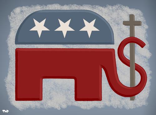 The Republican Party By Tjeerd Royaards Politics Cartoon Toonpool
