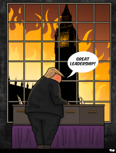 Trump visits the UK