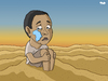 Cartoon: Africa (small) by Tjeerd Royaards tagged africa,war,famine,drought,tear,tears,sorrow,desert