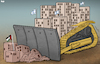 Cartoon: Bulldozer (small) by Tjeerd Royaards tagged israel,palestine,jerusalem,temple,mount,violence