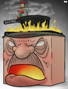 Cartoon: Erdogan and satire (small) by Tjeerd Royaards tagged erdogan,turkey,insult,joke,cartoon,satire,mad,angry