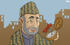Cartoon: Hamid Karzai (small) by Tjeerd Royaards tagged karzai,afghanistan,corrution,nato,strategy,democracy