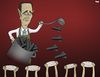 Cartoon: Let Them Eat War (small) by Tjeerd Royaards tagged assad,syria,hunger,war,conflict,bombs