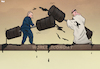 Cartoon: Oil War (small) by Tjeerd Royaards tagged russia,oil,opec,saudi,arabia,fight,economy,money,barrels