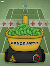 Cartoon: Pandemic (small) by Tjeerd Royaards tagged covid,19,corona,virus,pandemic,health,hospital,capacity,sick,viral