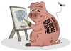 Cartoon: The Life of a Cartoonist (small) by Tjeerd Royaards tagged artist,money,income,livelyhood,cartoonist,art