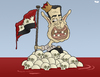 Cartoon: The mad king of Syria.. (small) by Tjeerd Royaards tagged syria,assad,victims,war,damascus,homs