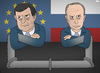 Cartoon: Ties That Bind (small) by Tjeerd Royaards tagged russia,eu,europe,putin,barroso,gas,gazprom,pipeline,moscow,politics,economy,trade