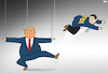 Cartoon: Trump Fires FBI Director (small) by Tjeerd Royaards tagged trump,james,comey,russia,fbi
