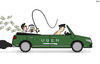 Cartoon: Uber and Saudi Arabia (small) by Tjeerd Royaards tagged uber,taxi,driver,human,rights,saudi,arabisa,whip,money,profit