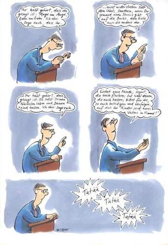 Bergpredigt By Woessner Religion Cartoon Toonpool