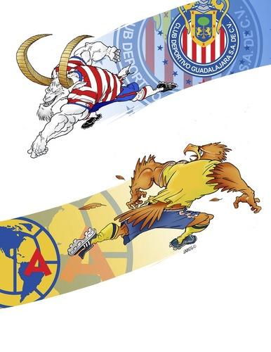 Chivas vs America Cartoons