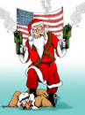 Cartoon: American Christmas (small) by JARO tagged us oil arabs christmas