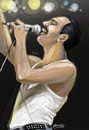 Cartoon: Freddie Mercury (small) by JARO tagged singer,queen,freddie,mercury