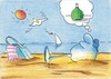 Cartoon: Am Meer (small) by Henrich tagged franken,wein