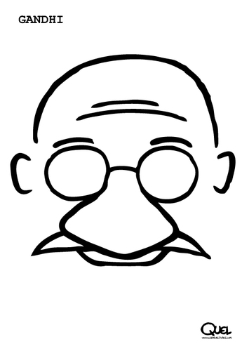 Cartoon: GANDHI CARICATURE (medium) by QUEL tagged gandhi,caricature