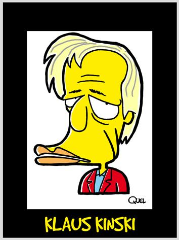 Cartoon: KLAUS KINSKI CARICATURE (medium) by QUEL tagged klaus,kinski,caricature