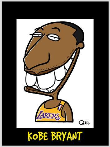 Cartoon: KOBE BRYANT CARICATURE (medium) by QUEL tagged kobe,bryant,