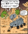 Cartoon: Mars2012-04 (small) by VoBo tagged space,mars,raumfahrt,curiosity,cats,pets,marsians,aliens,landing,research,science,travelling,spacetravel,rover,explorer,exploration,expedition,planets