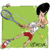 Cartoon: Novak Djokovic (small) by Lacosteenz tagged djokovic