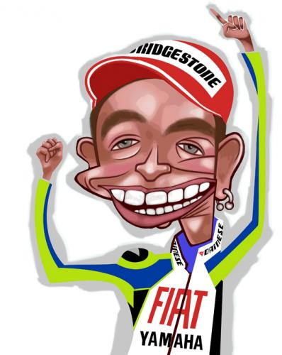 Valentino Rossi By Pincho Sports Cartoon Toonpool