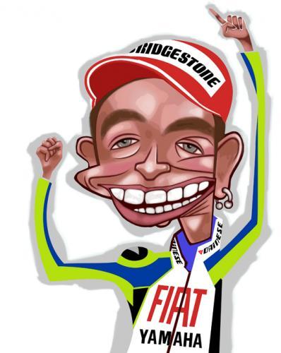 valentino rossi. Cartoon: Valentino Rossi