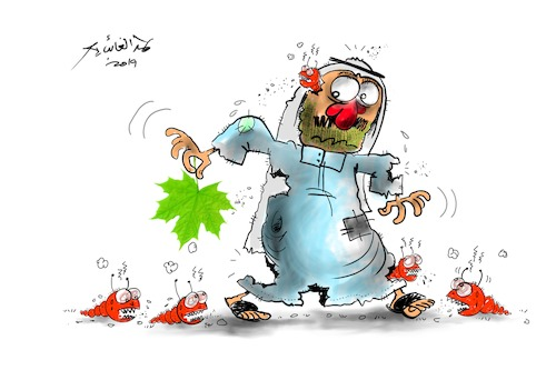 Cartoon: hamad al gayeb (medium) by hamad al gayeb tagged cartoon