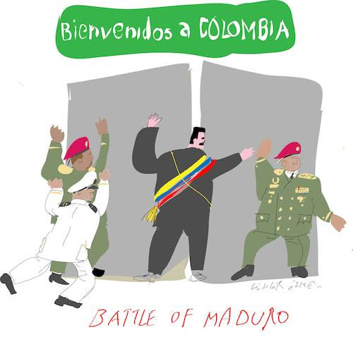 Cartoon: Battle of Maduro (medium) by gungor tagged venezuela,venezuela